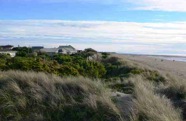 Houses with dunes and beach